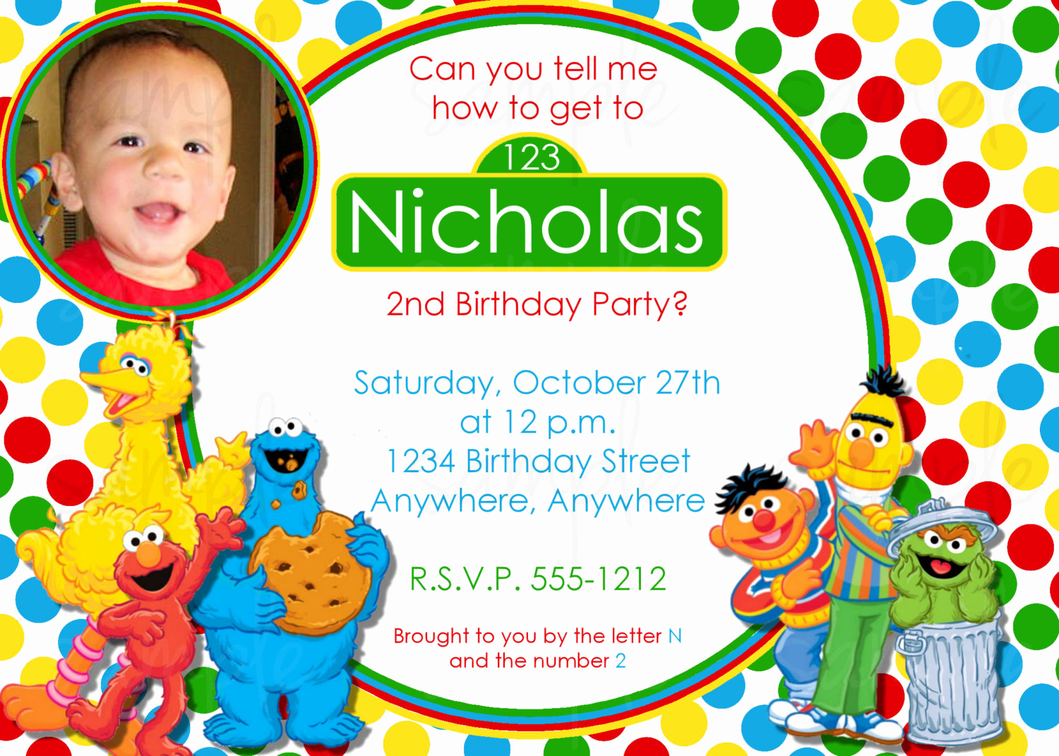 Sesame Street Invitation Template Unique Free Printable Sesame Street Birthday Invitations