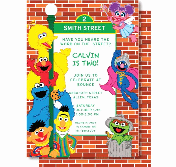 Sesame Street Invitation Templates Beautiful Best 25 Elmo Birthday Invitations Ideas On Pinterest