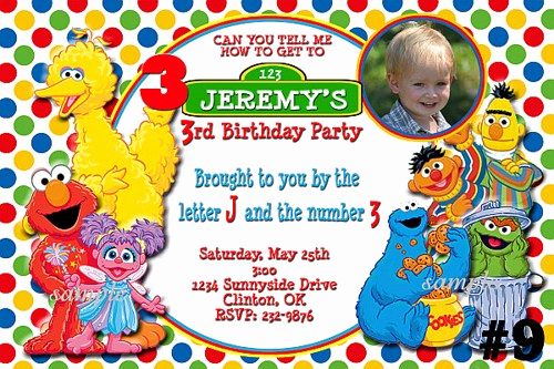 Sesame Street Invitation Templates Beautiful Free Printable Custom Sesame Street Birthday Invitations