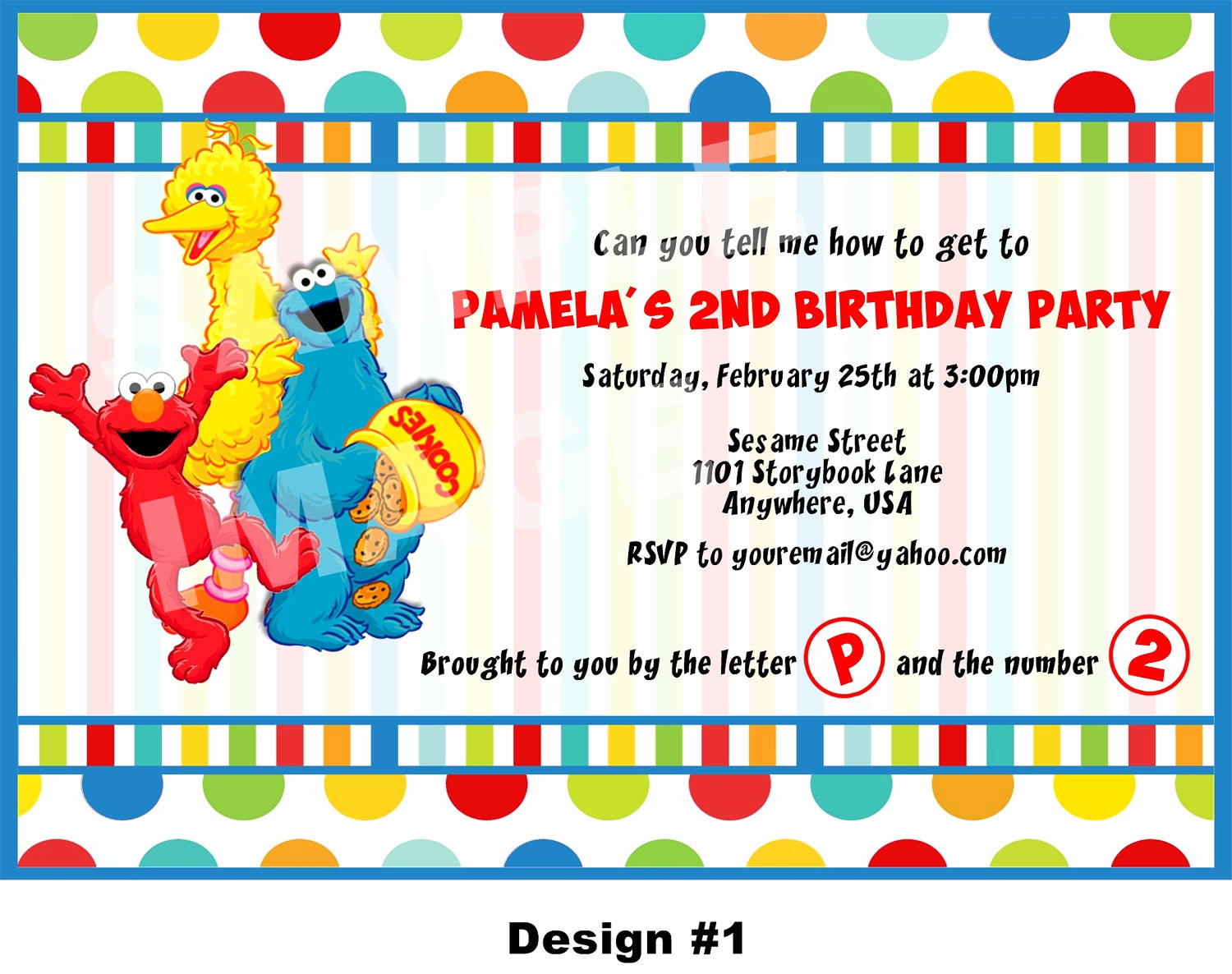 Sesame Street Invitation Templates Beautiful Sesame Street Invitation Elmo Invitation Cookie Monster