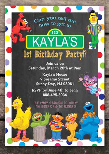 Sesame Street Invitation Templates Elegant 100 Sesame Street Birthday Party Ideas—by A Professional