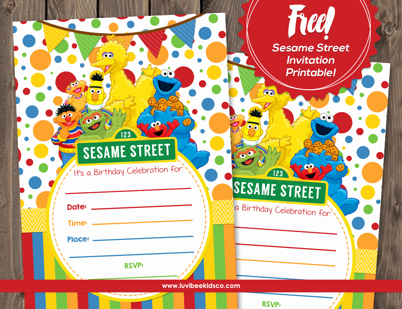 Sesame Street Invitation Templates Fresh Sesame Street Free Printable Invitation
