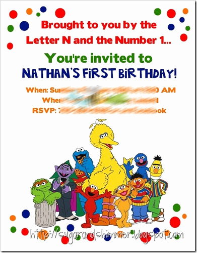Sesame Street Invitation Templates Fresh Sugar and Shimmer Sesame Street Party – Invitations with