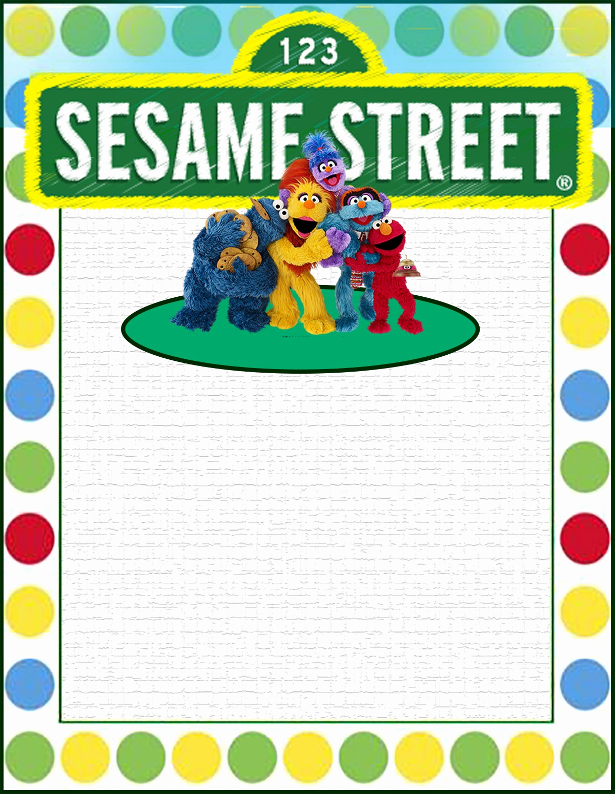 Sesame Street Invitation Templates New Free Printable Sesame Street Invitation Templates