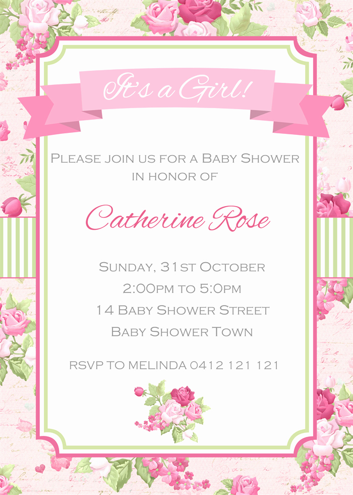 Shabby Chic Baby Shower Invitation Awesome Shabby Chic Baby Shower Invitations Party Xyz