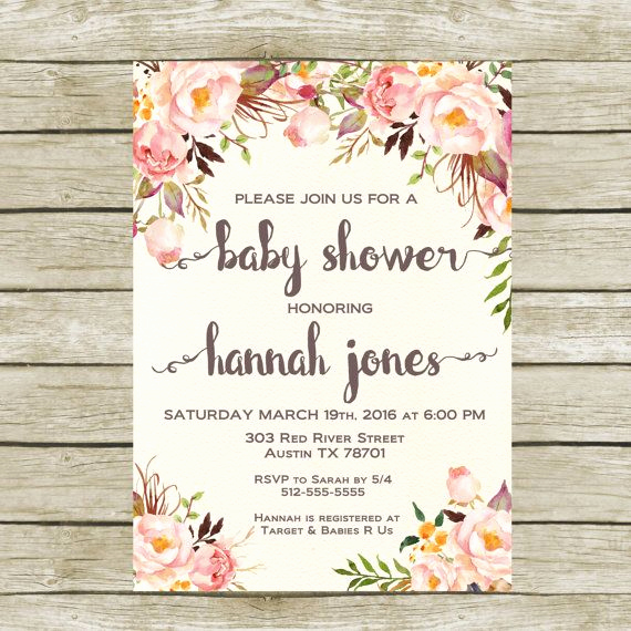 Shabby Chic Baby Shower Invitation Fresh Best 25 Shabby Chic Baby Shower Ideas On Pinterest