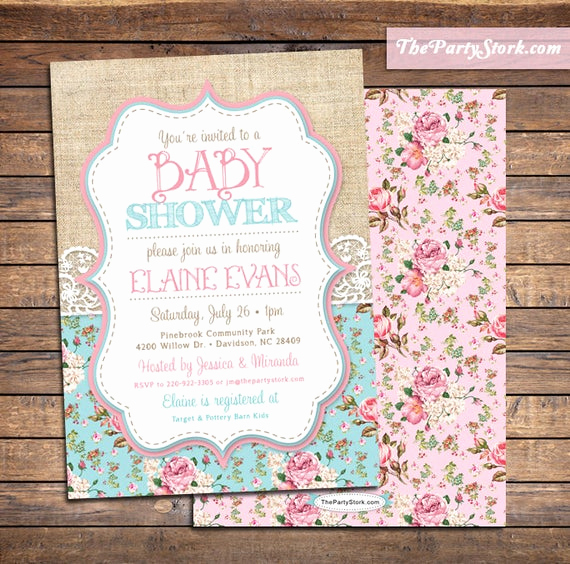 Shabby Chic Baby Shower Invitation Fresh Shabby Chic Baby Shower Invitations Baby Sprinkle Invitation