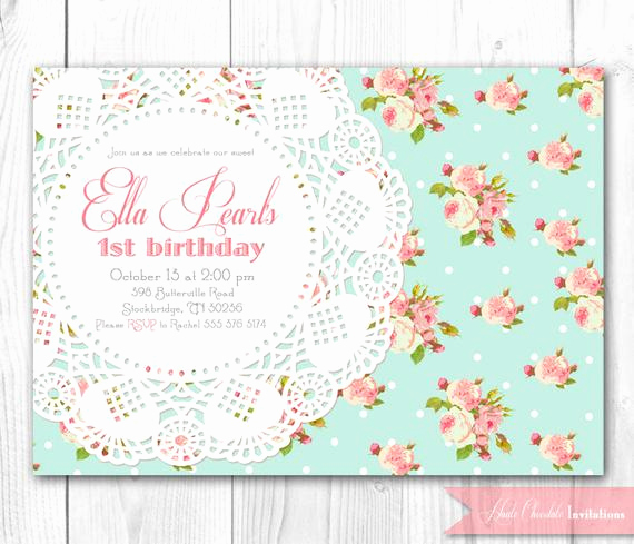Shabby Chic Baby Shower Invitation Luxury Shabby Chic Invitation Vintage Pearls & Lace Invitation Diy