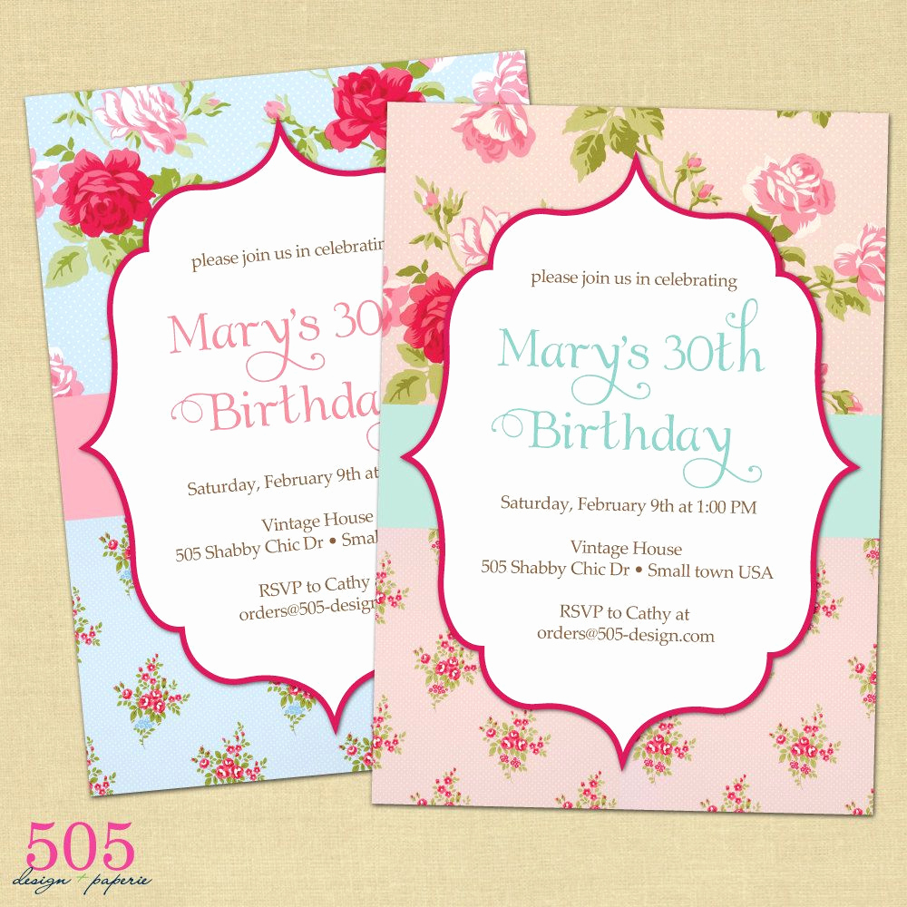 Shabby Chic Invitation Templates Free Awesome Shabby Chic Invitation by 505 Design Paperie $12 50 Via