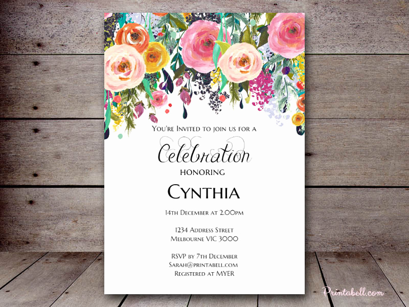 Shabby Chic Invitation Templates Free Fresh Editable Bridal Shower Invitations – Printabell • Create