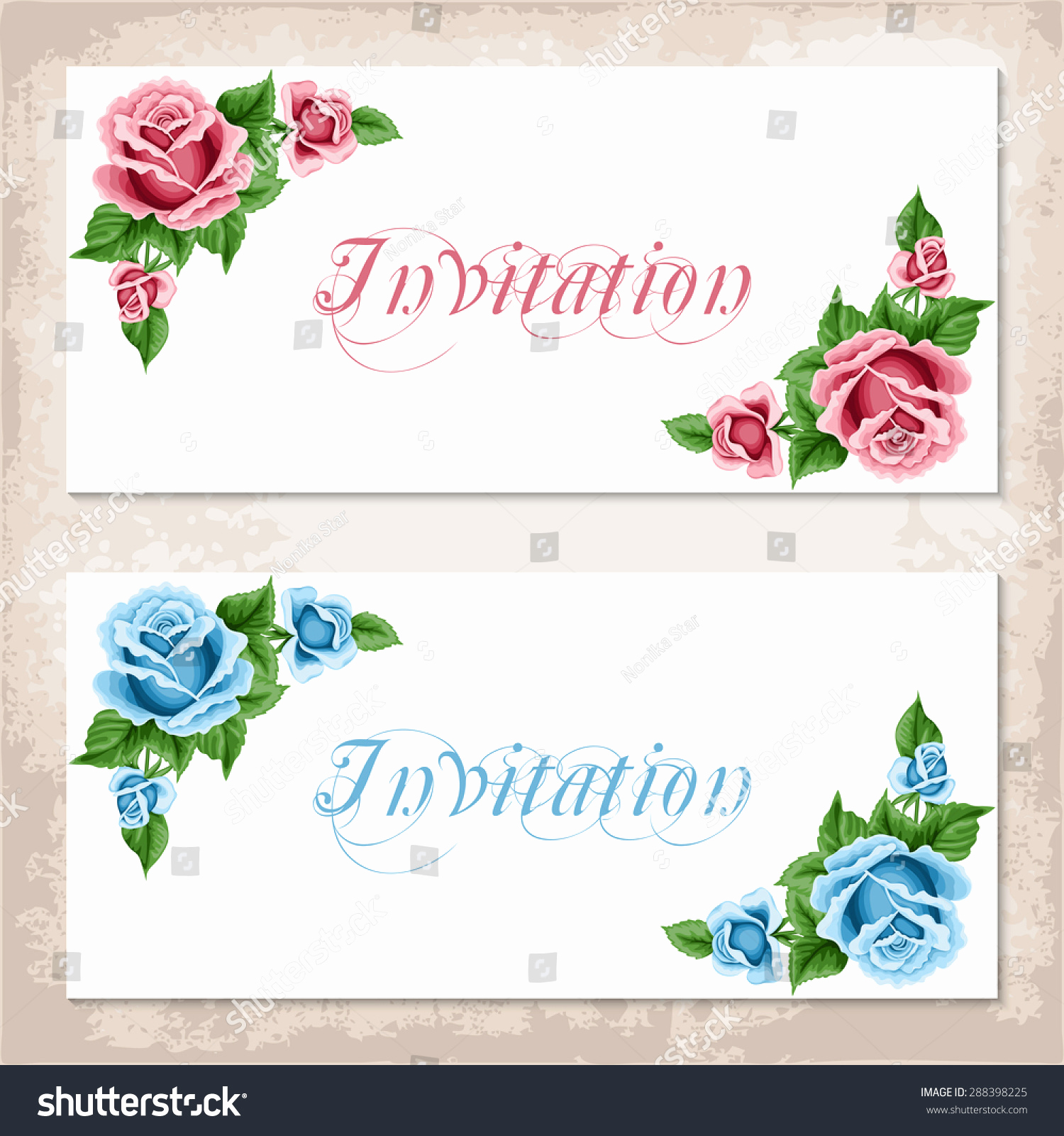 Shabby Chic Invitation Templates Free Fresh Vintage Invitation Template Roses Shabby Chic Stock Vector