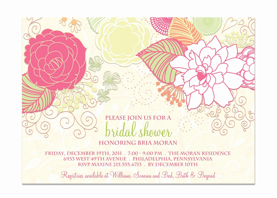 Shabby Chic Invitation Templates Free Lovely Bridal Shower Invitation Shabby Chic Floral by