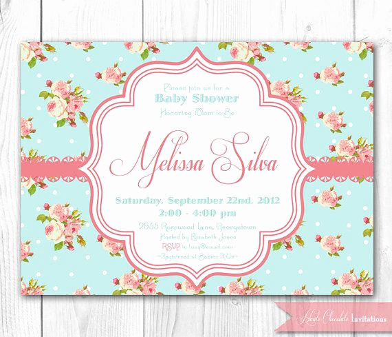 Shabby Chic Invitation Templates Free Luxury Shabby Chic Baby Shower Invitation Diy Printable Baby