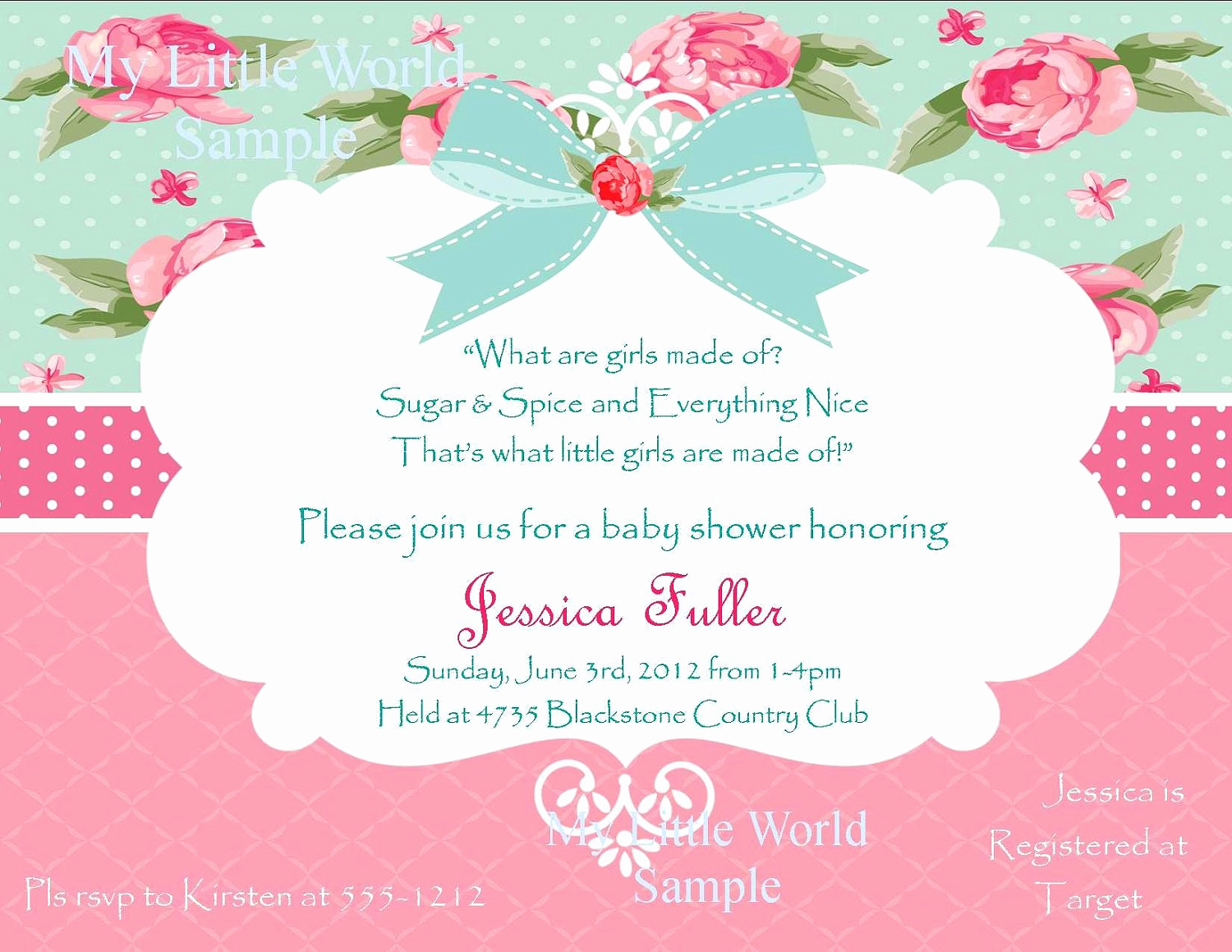 Shabby Chic Invitation Templates Free Luxury Shabby Chic Birthday Invitations