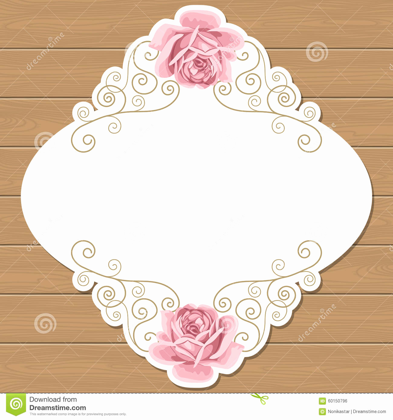 Shabby Chic Invitation Templates Free New Wood Background with Roses Stock Vector Illustration Of