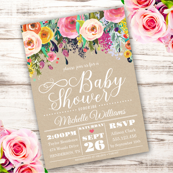 Shabby Chic Invitation Templates Free Unique Shabby Chic Baby Shower Invitation Template Edit with