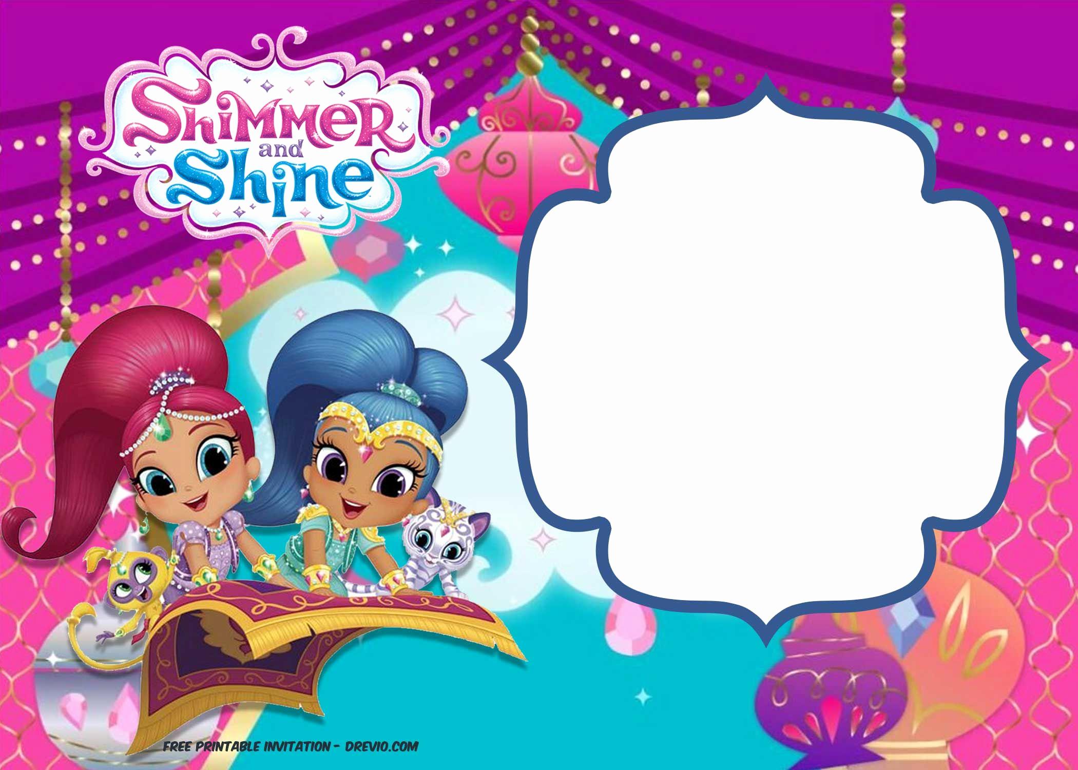 Shimmer and Shine Birthday Invitation Best Of Free Shimmer and Shine Invitation