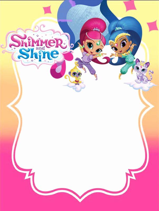 Shimmer and Shine Birthday Invitation New Shimmer and Shine Invitations for Girls