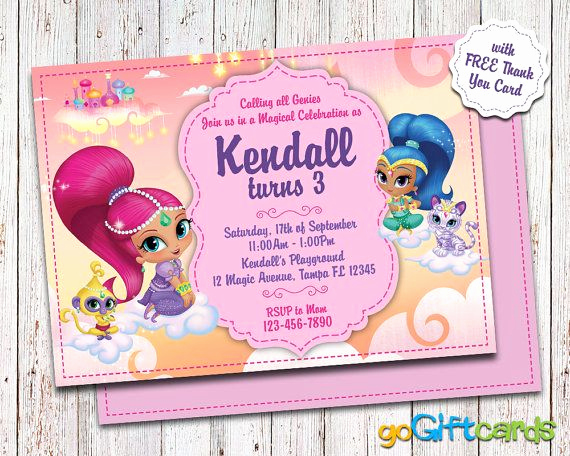 Shimmer and Shine Invitation Template Beautiful Shimmer and Shine Invitation Shimmer & Shine by