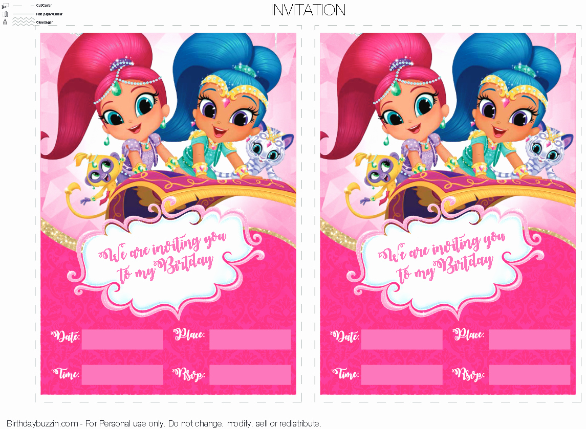 Shimmer and Shine Invitation Template Inspirational Pin by Crafty Annabelle On Shimmer & Shine Printables