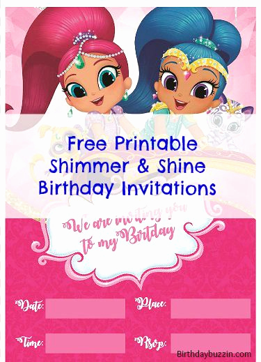 Shimmer and Shine Invitation Template Luxury Free Printable Shimmer and Shine Birthday Invitations