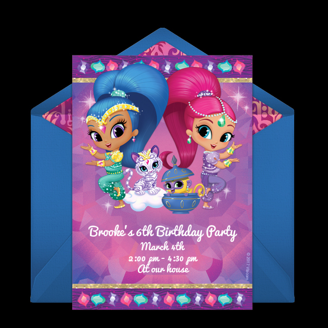 Shimmer and Shine Invitation Template Unique Free Shimmer and Shine Invitations In 2019