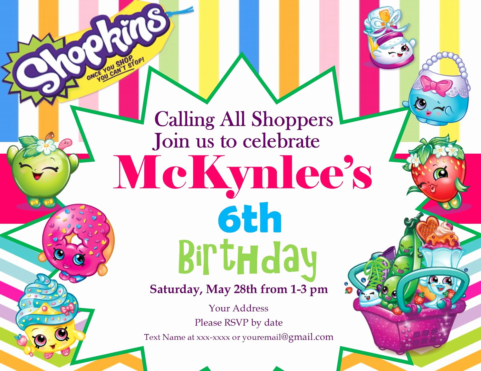 Shopkins Birthday Invitation Template Beautiful Mrs Sheets & Co Diy Shopkins Birthday Party