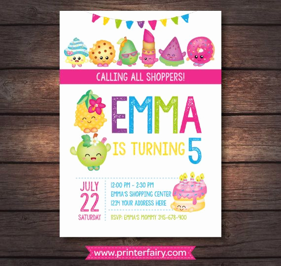 Shopkins Birthday Invitation Template Free Best Of Best 25 Shopkins Invitations Ideas On Pinterest