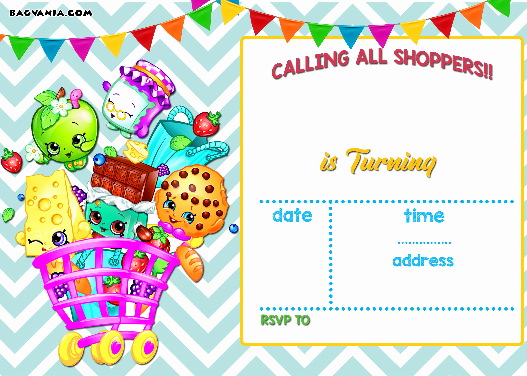 Shopkins Birthday Invitation Template Free Best Of Calling All Shoppers Here are Free Blank Shopkins