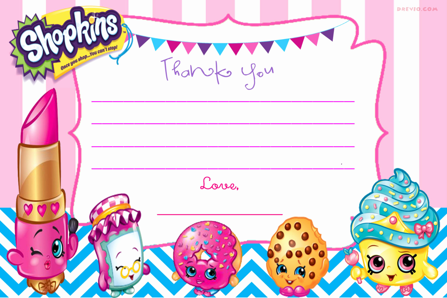 Shopkins Birthday Invitation Template Free Luxury Updated – Free Printable Shopkins Birthday Invitation