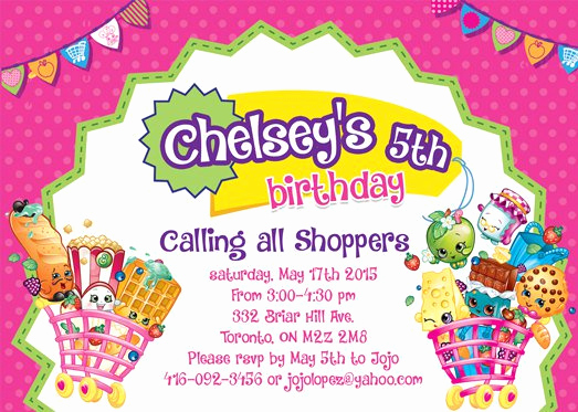 Shopkins Birthday Invitation Template Free New Invitations Printed at Walgreens