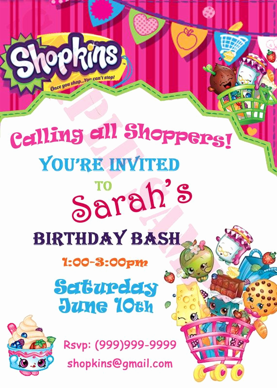 Shopkins Birthday Invitation Template Lovely 80 Best Images About Shopkins Party Ideas On Pinterest