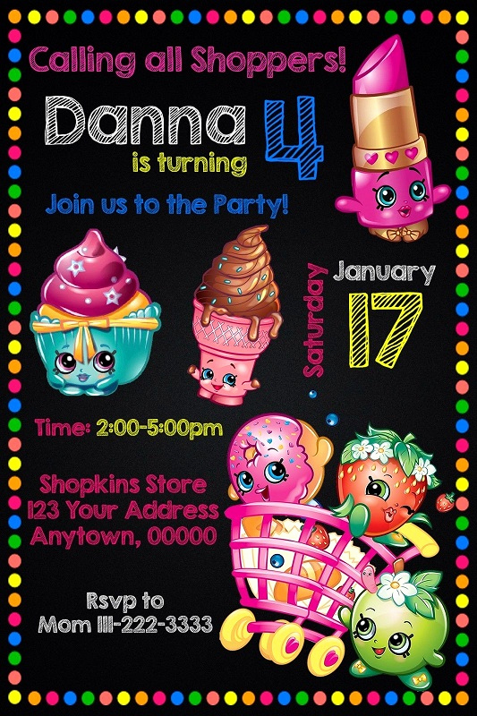 Shopkins Birthday Invitation Template Lovely Shopkins Birthday Party Ideas and Supplies – Kids Birthday