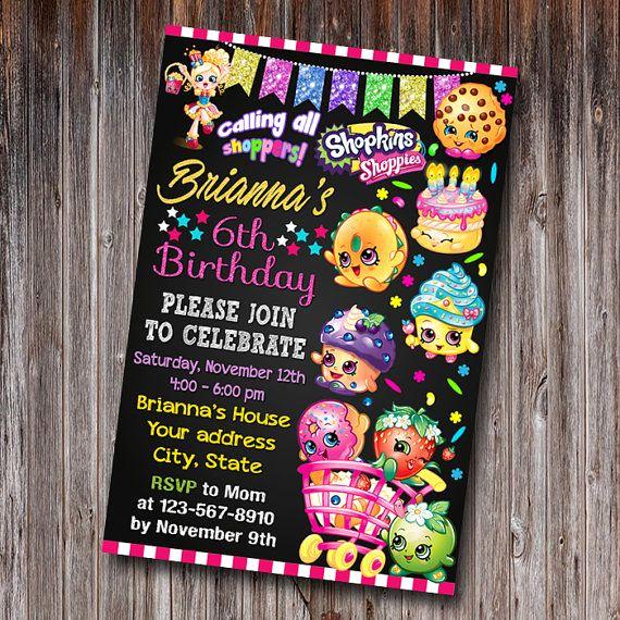 Shopkins Birthday Party Invitation Awesome Best 25 Shopkins Invitations Ideas On Pinterest