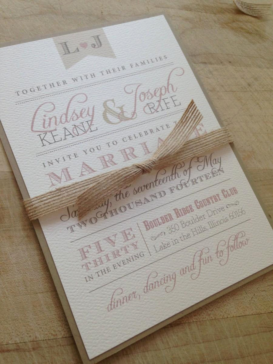Simple Wedding Invitation Ideas Awesome Wedding Invitation Suite Sample Rustic and Vintage