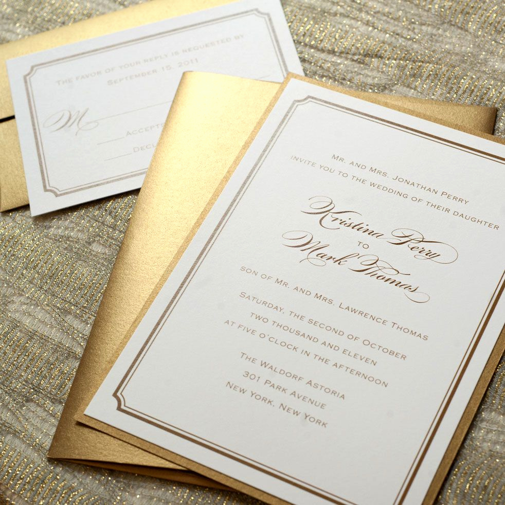 Simple Wedding Invitation Ideas Beautiful Traditional Wedding Invitations On Pinterest