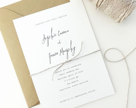 Simple Wedding Invitation Ideas Elegant 18 Simple Inexpensive Wedding Invitations — the