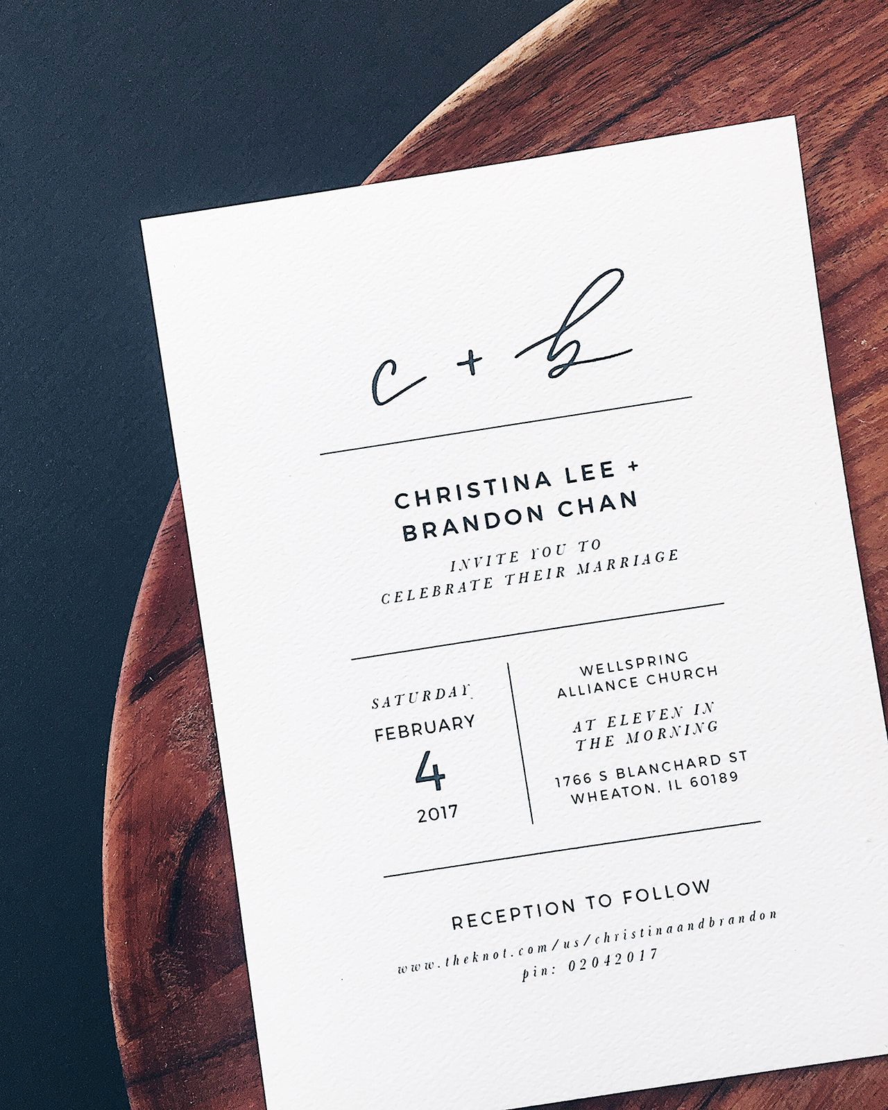 Simple Wedding Invitation Ideas Elegant Minimalist Black and White Hand Lettered Wedding
