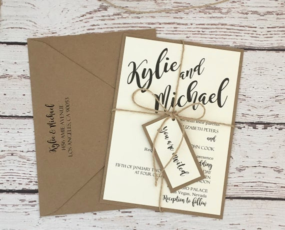 Simple Wedding Invitation Ideas Elegant Rustic Wedding Invitation Simple Rustic Invitation Wedding