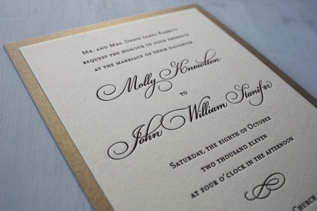 Simple Wedding Invitation Ideas Fresh Chocolate Brown Simple Swirl Letterpress Wedding