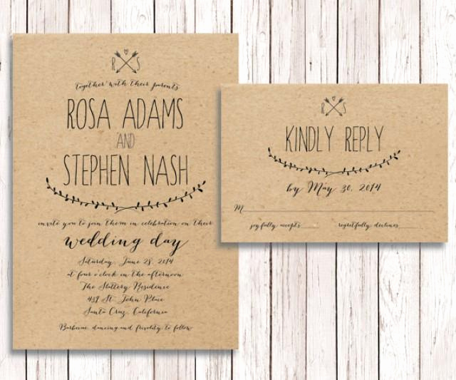 Simple Wedding Invitation Ideas Fresh Rustic Wedding Invitation Rsvp Kraft Paper Wedding