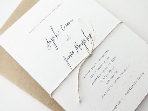 Simple Wedding Invitation Ideas Inspirational Best 25 Simple Wedding Invitations Ideas On Pinterest