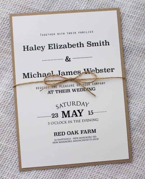 Simple Wedding Invitation Ideas Lovely Simple Wedding Invitations Best Photos Cute Wedding Ideas