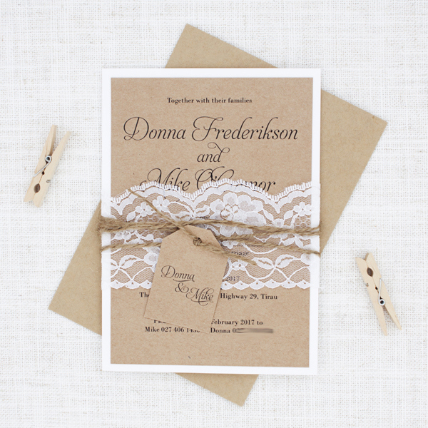 Simple Wedding Invitation Ideas New Simple Script Rustic Lace & Twine Wedding Invite Be My Guest