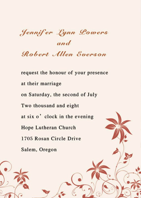 Simple Wedding Invitation Wording Awesome 30 Simple Wedding Invitations Ideas Wohh Wedding
