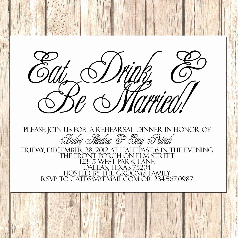 Simple Wedding Invitation Wording Beautiful Simple and Elegant Rehearsal Dinner Invitations5x7 by