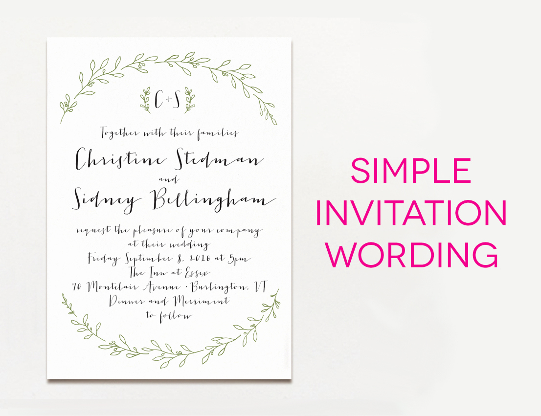 Simple Wedding Invitation Wording Best Of 15 Wedding Invitation Wording Samples From Traditional to Fun