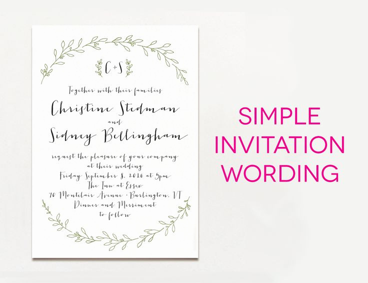 Simple Wedding Invitation Wording Best Of Best 25 Wedding Invitation Matter Ideas On Pinterest