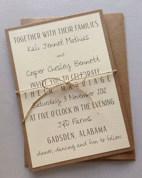 Simple Wedding Invitation Wording Best Of Rustic Modern Wedding Invitations