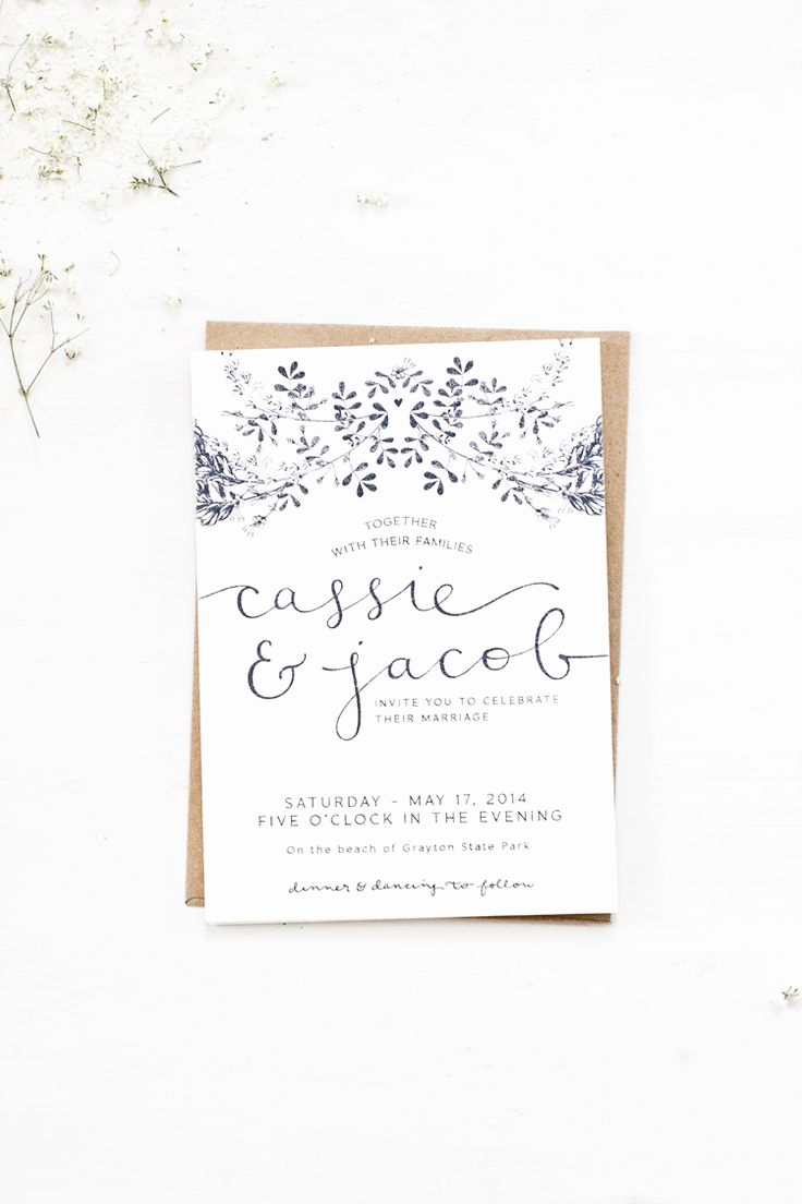 Simple Wedding Invitation Wording Inspirational 25 Best Ideas About Simple Wedding Invitations On